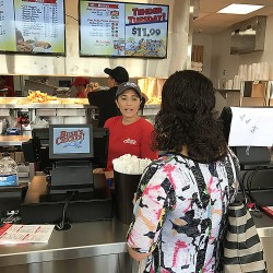 The CDC attended the opening of Bush's Chicken in Cuero