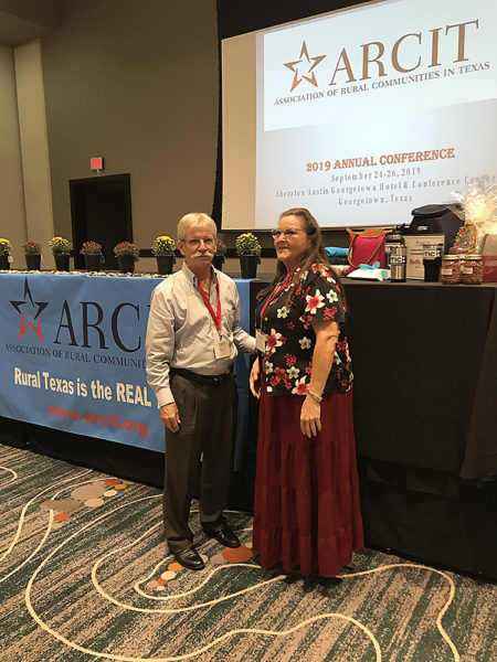 Patrick Kennedy and Carolyn Gibson at 2019 ARCIT Conference