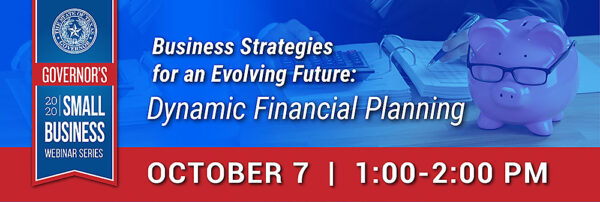Graphic for October 7th 2020 Governor's Small Business Webinar