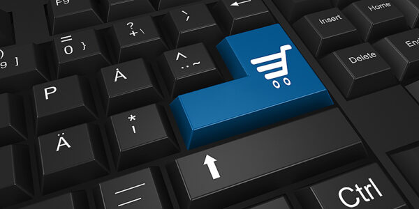 Graphic for Ecommerce, Keyboard with Shopping Cart Key