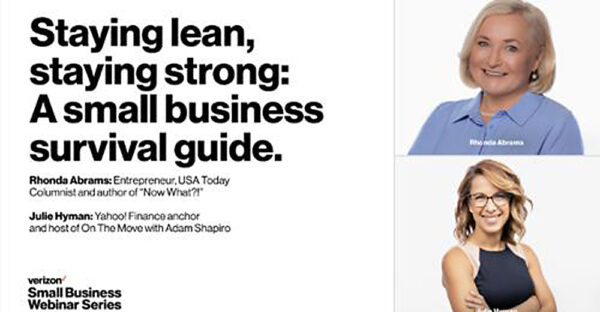 """Graphic for """"Staying lean, staying strong – A small business survival guide"""""""