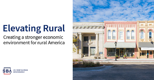 """Graphic for SBA """"Elevating Rural"""" Campaign: Info and Resources for Rural Businesses"""