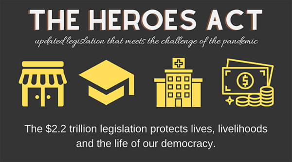 Graphic for The HEROES Act Updated Legislation
