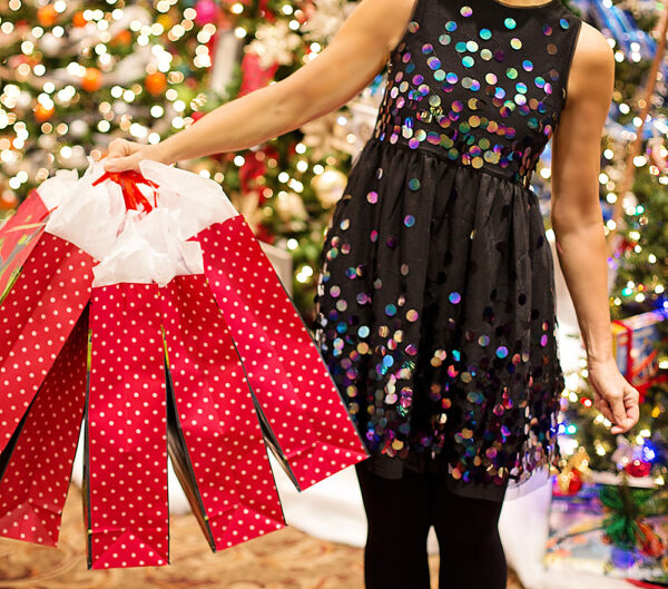Holiday Shopper with Bags