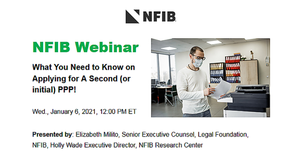 Graphic for NFIB PPP Application webinar 2021-01-06