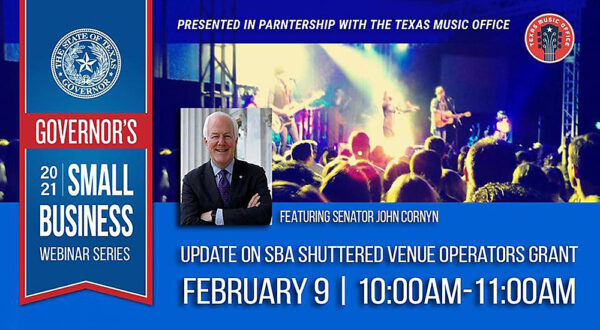Graphic for February 9th 2021 Governor's Small Business Webinar