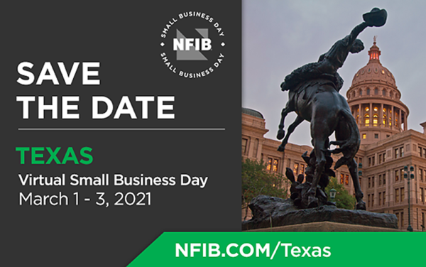 Graphic for NFIB Texas Virtual Small Business Day 2021