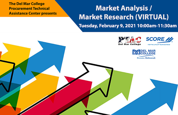Graphic for Del Mar PTAC 2021-02-09: teleconference Market Analysis/Market Research