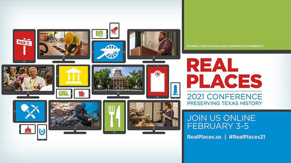 "Graphic for Texas Workforce Commission ""Real Places 21"" Virtual Conference"