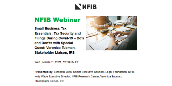 Graphic for NFIB webinar 2021-03-31