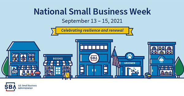 Graphic for SBA National Small Business Week September 13th-15th 2021