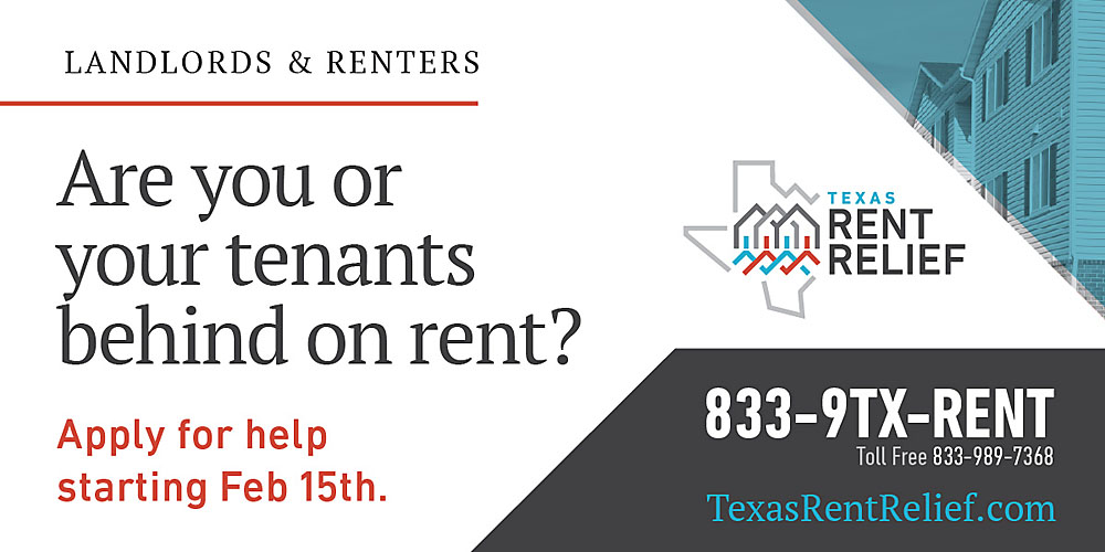 Graphic for Texas Rent Relief Program
