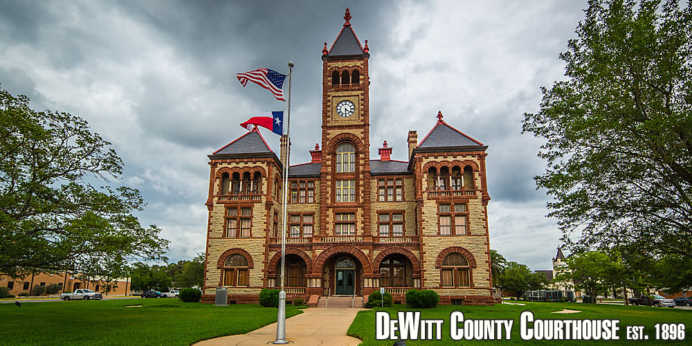 Photo of the DeWitt County Courthouse, est. 1896